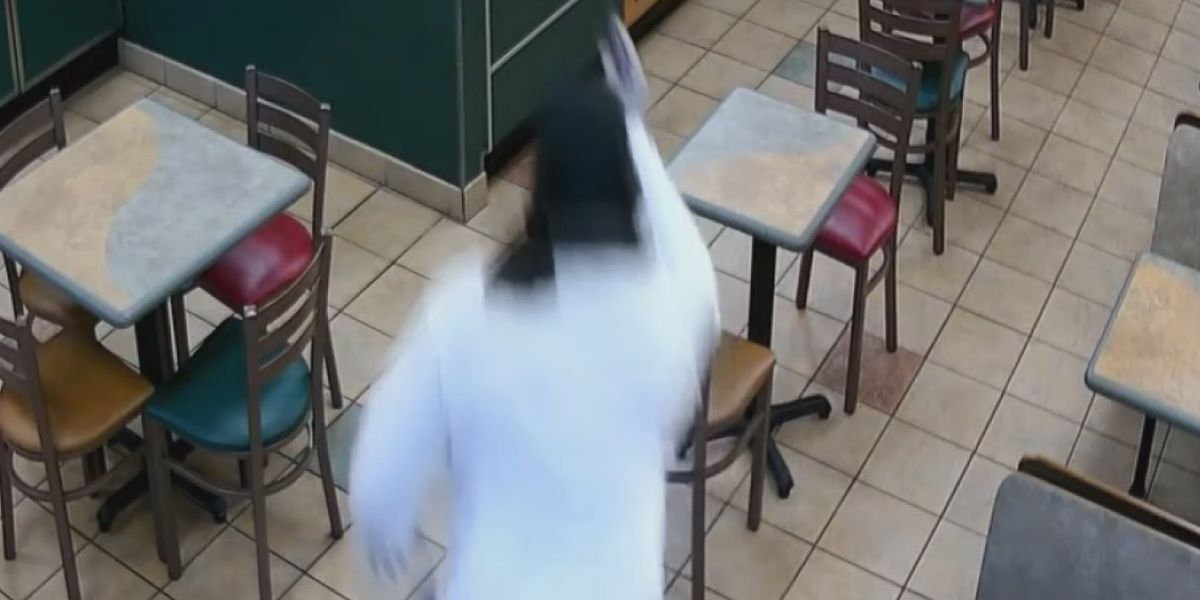 Video of Subway robbery shows suspect herd employees into refrigerator