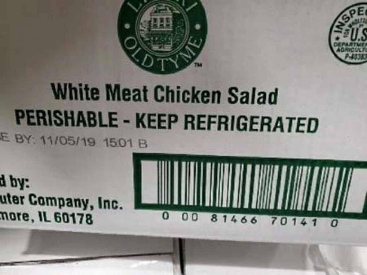 Lipari Foods issues recall of bulk chicken salads and chicken salad sandwiches over Listeria concerns