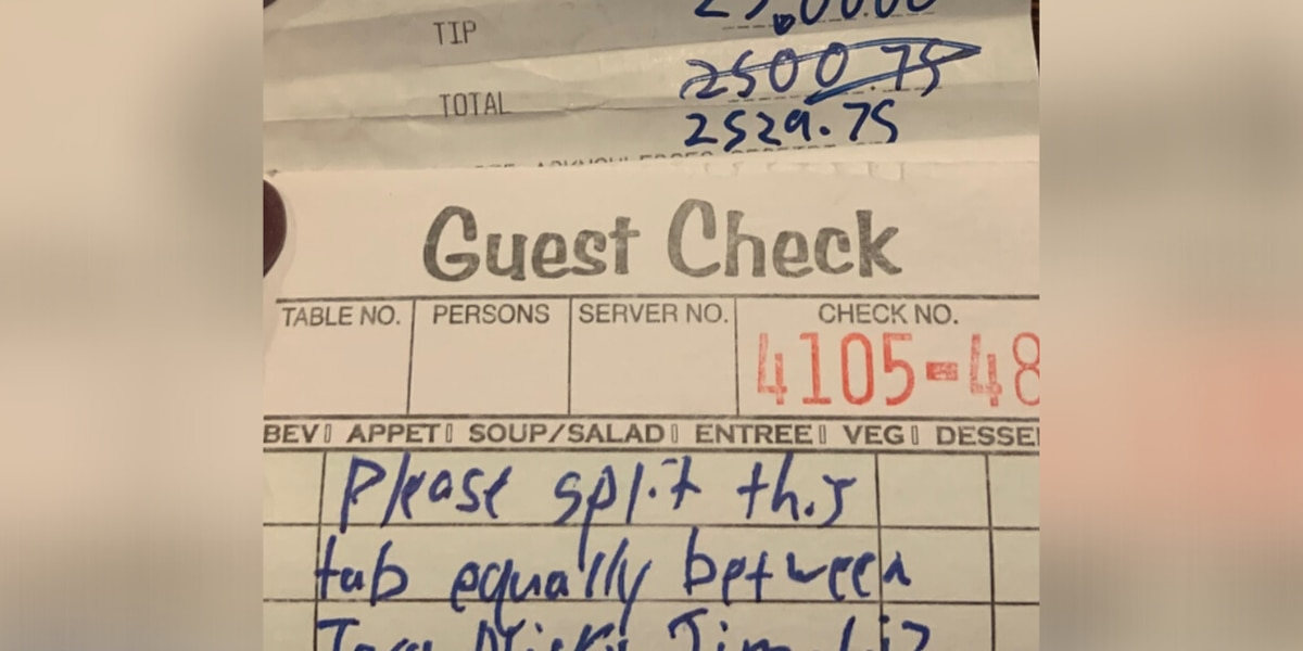 $2,500 tip left at Columbus restaurant before they all closed indefinitely in Ohio because of coronavirus