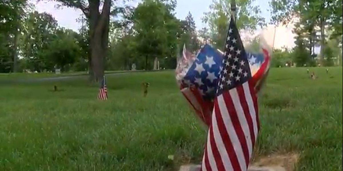 Arlington Memorial Gardens host drive-by memorial for visitors