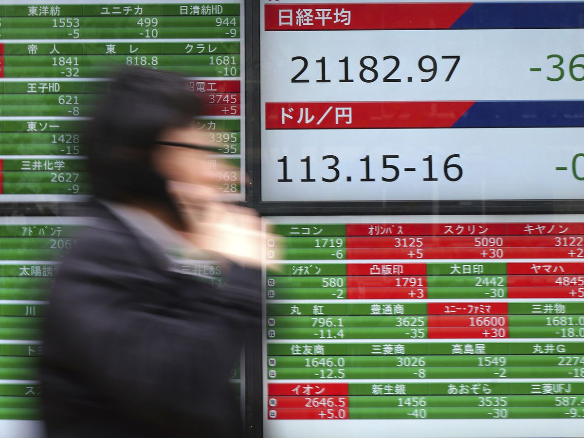 Asian shares mixed on concerns over trade, economic outlook