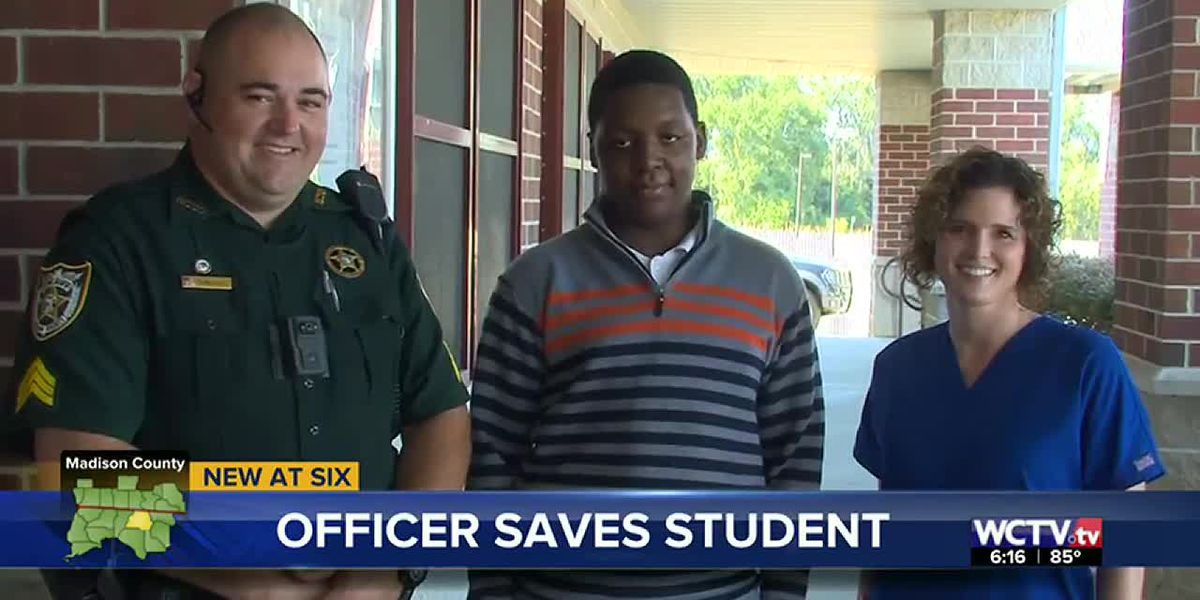 SRO and school nurse save the life of a student