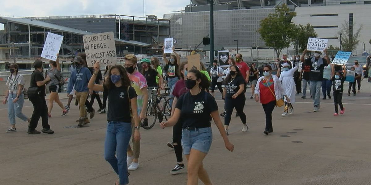 Multiple Black organizations held a march through downtown Saturday