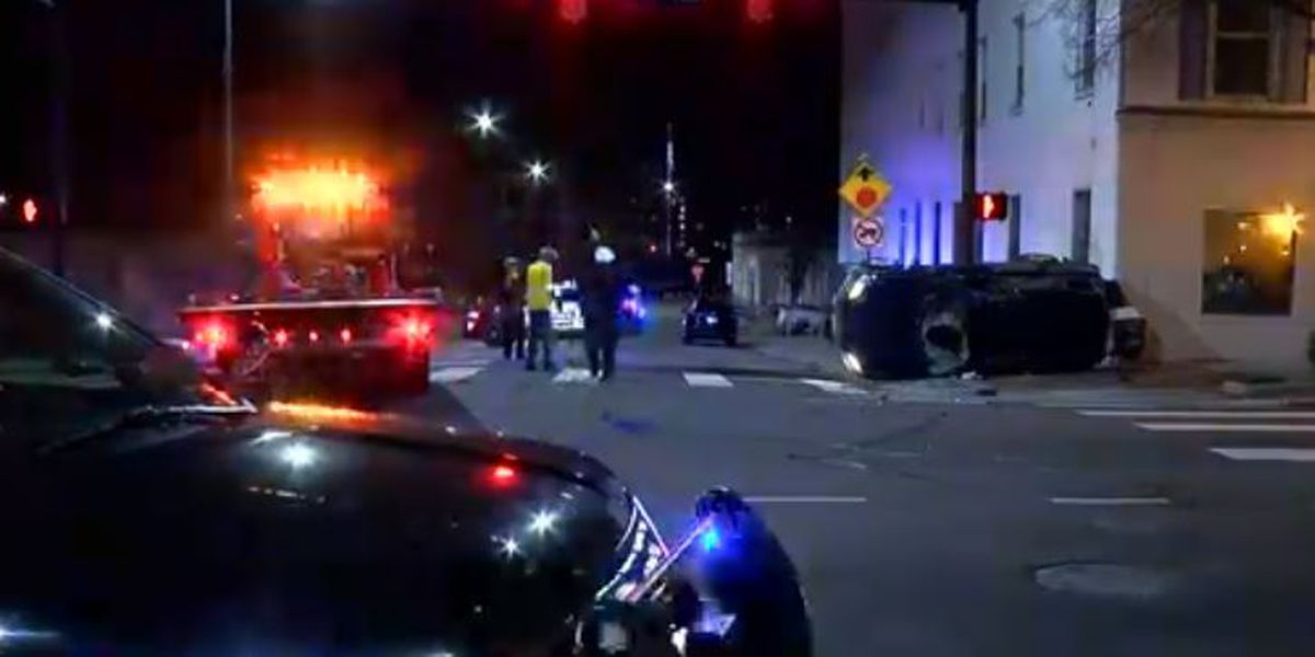 Hamilton officer, another man hospitalized after two-vehicle crash
