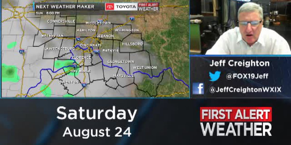 Jeff's Saturday evening forecast 8/24