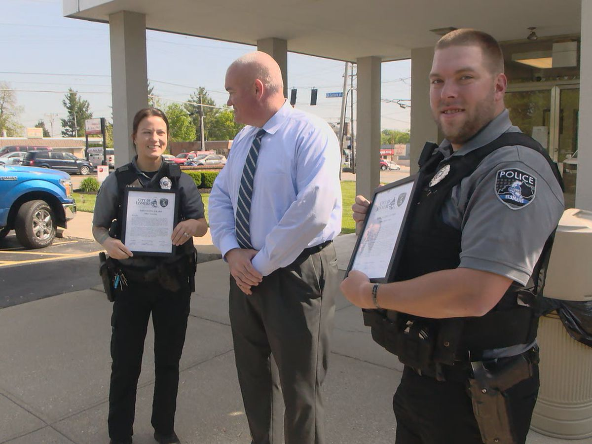 VIDEO: Elsmere police officer's heroics save baby
