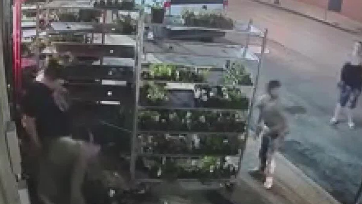 Downtown store owner searching for Good Samaritans recorded cleaning up vandalism