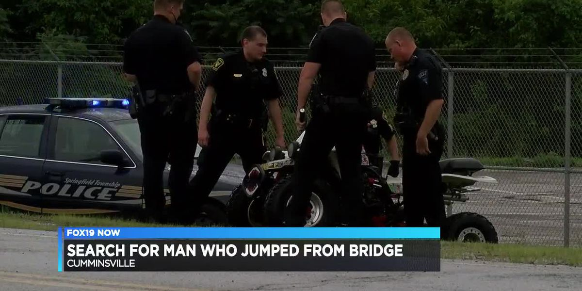 Search for man who jumped from bridge