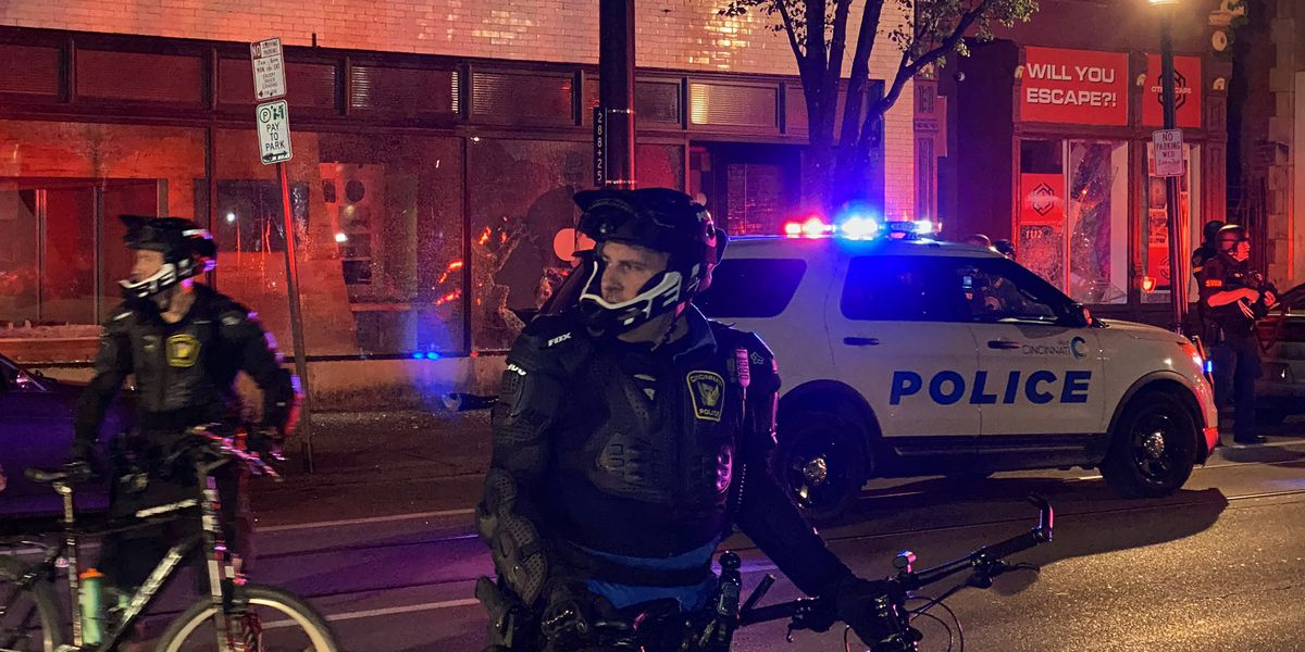 Peaceful protests turn violent in Over-the-Rhine, Downtown Cincinnati