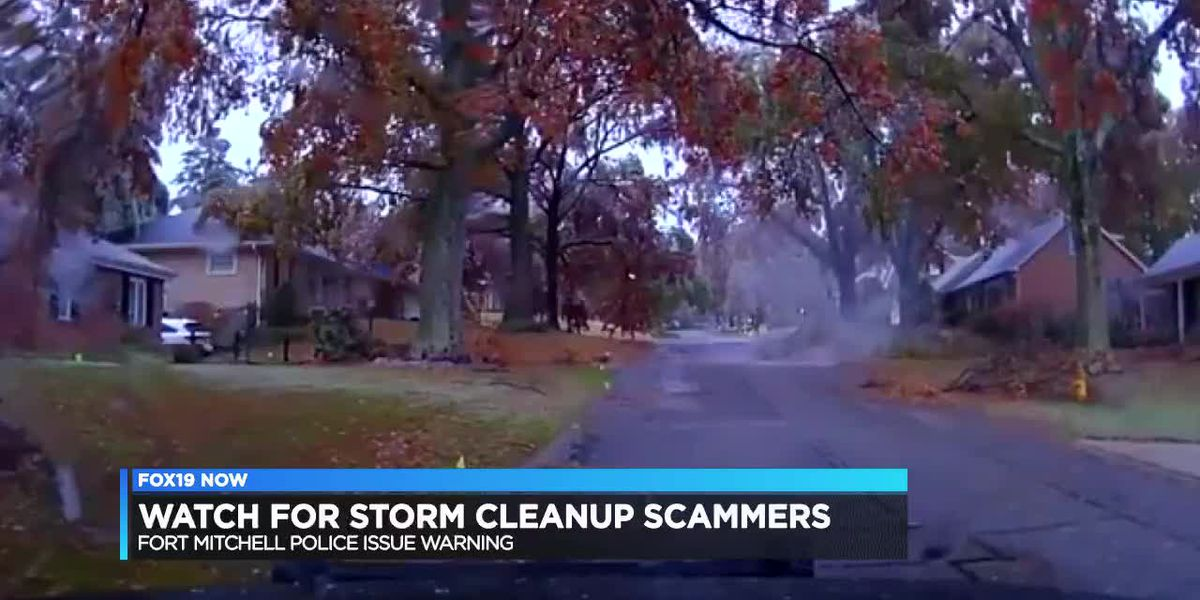 Watch out for storm clean-up scams