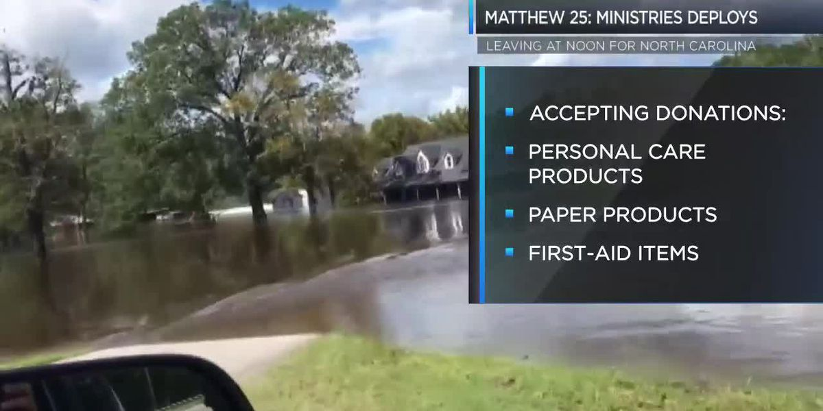 Matthew 25 to help with flood relief in NC