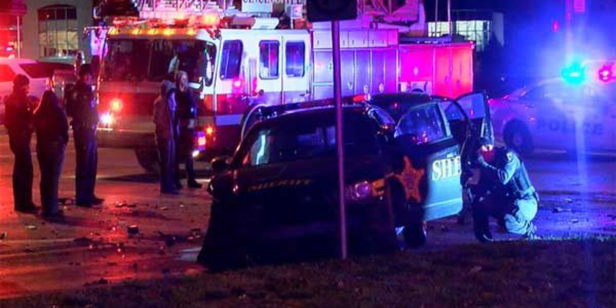 Police: Chase ends in crash that hospitalizes deputy sheriff, woman