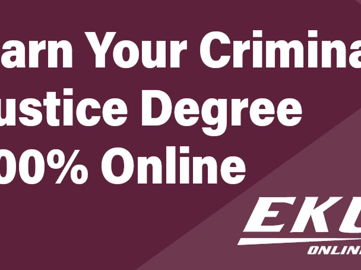 Earn Your Criminal Justice Degree 100% Online