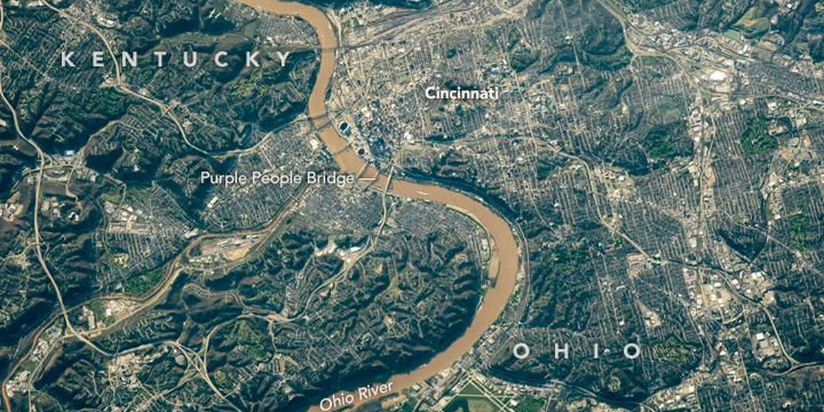 NASA picture shows Cincinnati from space