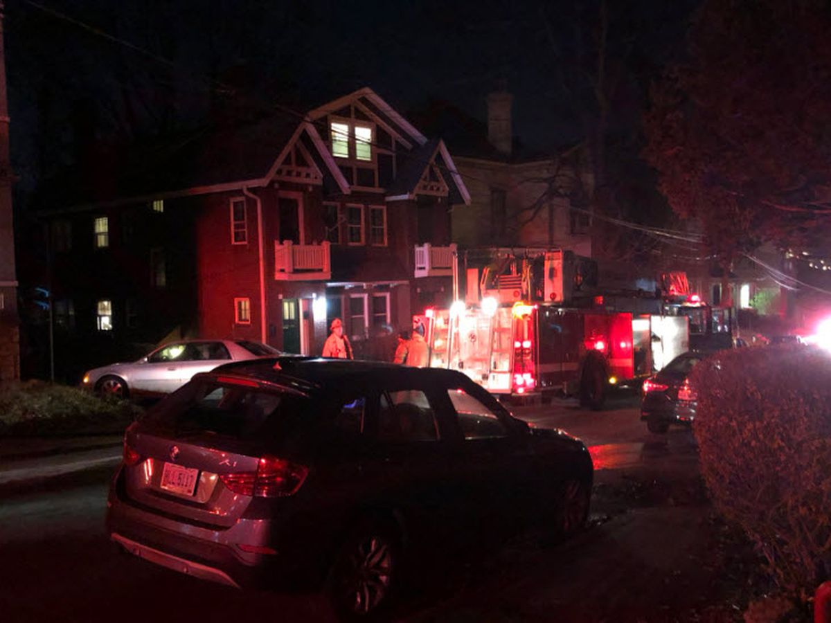 Firefighter hurt responding to Mt. Auburn fire