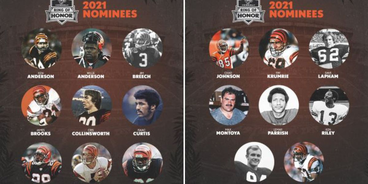 Bengals annnounce Ring of Honor nominees