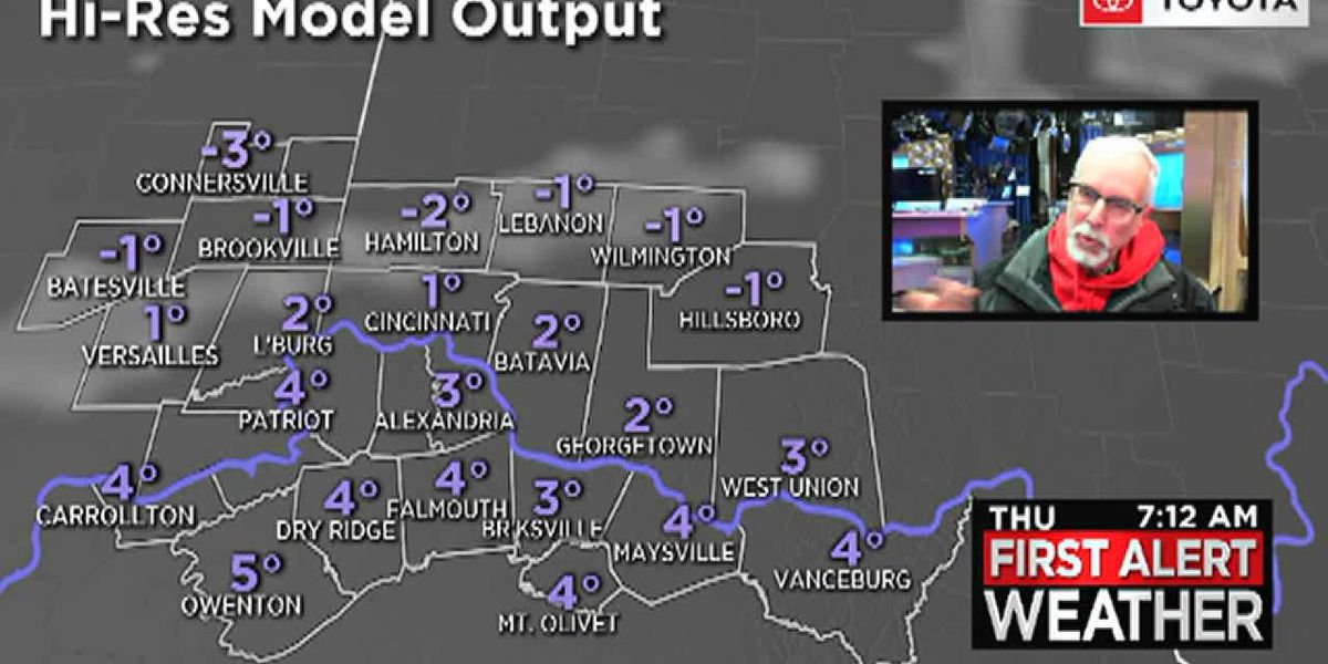 Snow could make the Friday morning commute slick