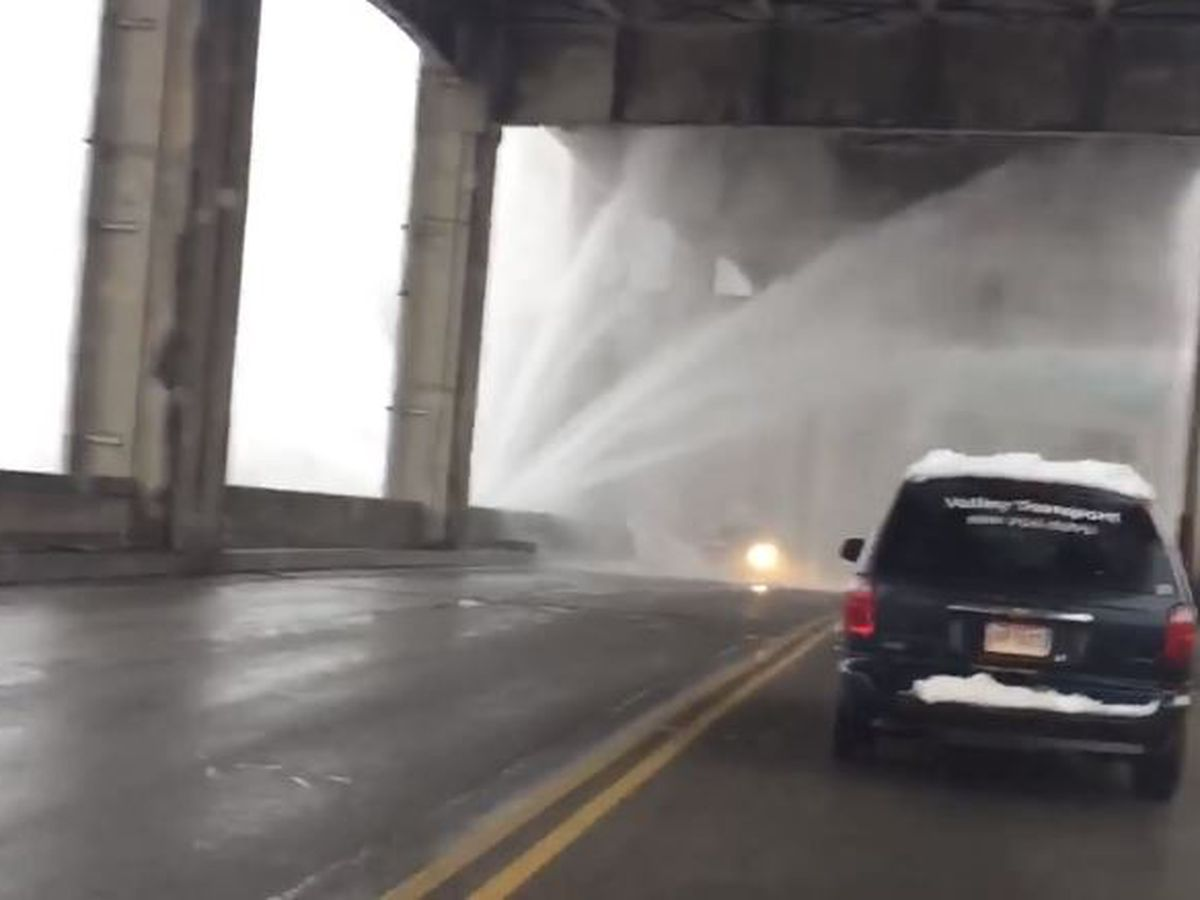 Water main break on Western Hills Viaduct, ramp closures expected Tuesday