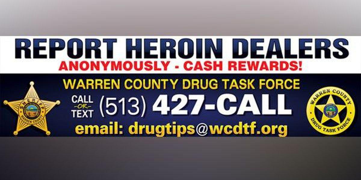 Warren Co. offers cash for heroin trafficker tips