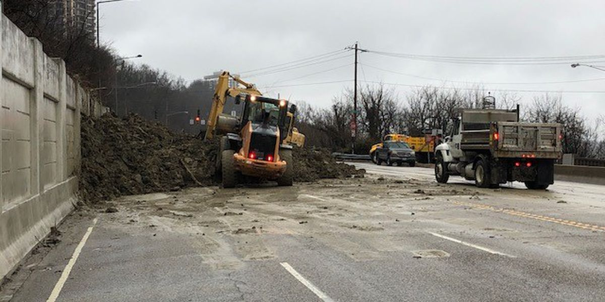 Columbia Pkwy reopens after Tuesday landslides (plural)