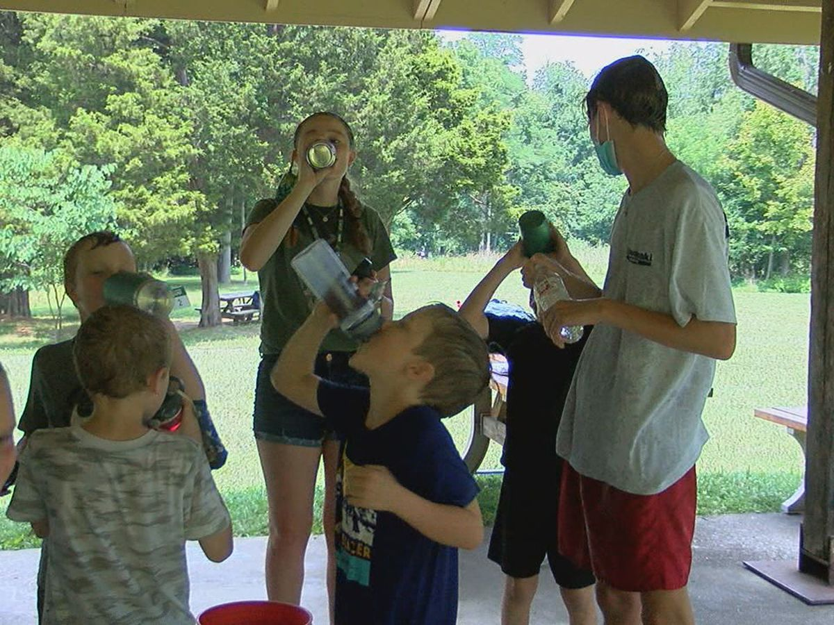 Summer camps deal with excessive heat, storms and pandemic