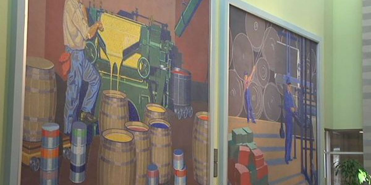 Famed airport murals begin move to convention center this weekend