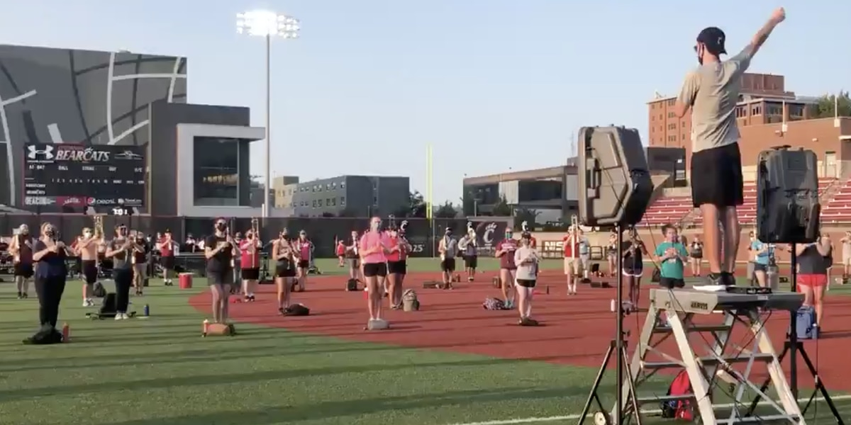 UC marching band rehearses ahead of pandemic debut at Nippert Stadium