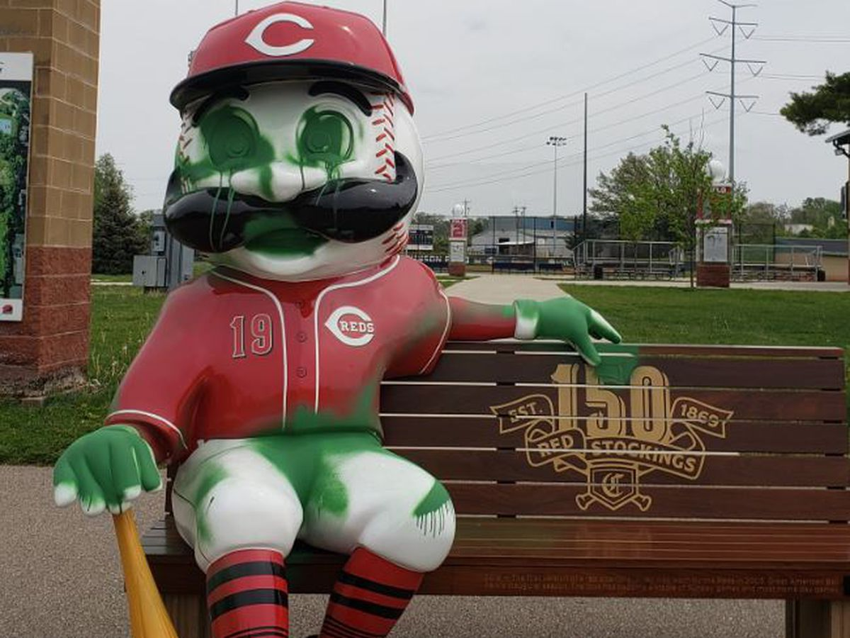 Two teenagers arrested for vandalizing Mr. Redlegs bench, field at Reds Youth Academy