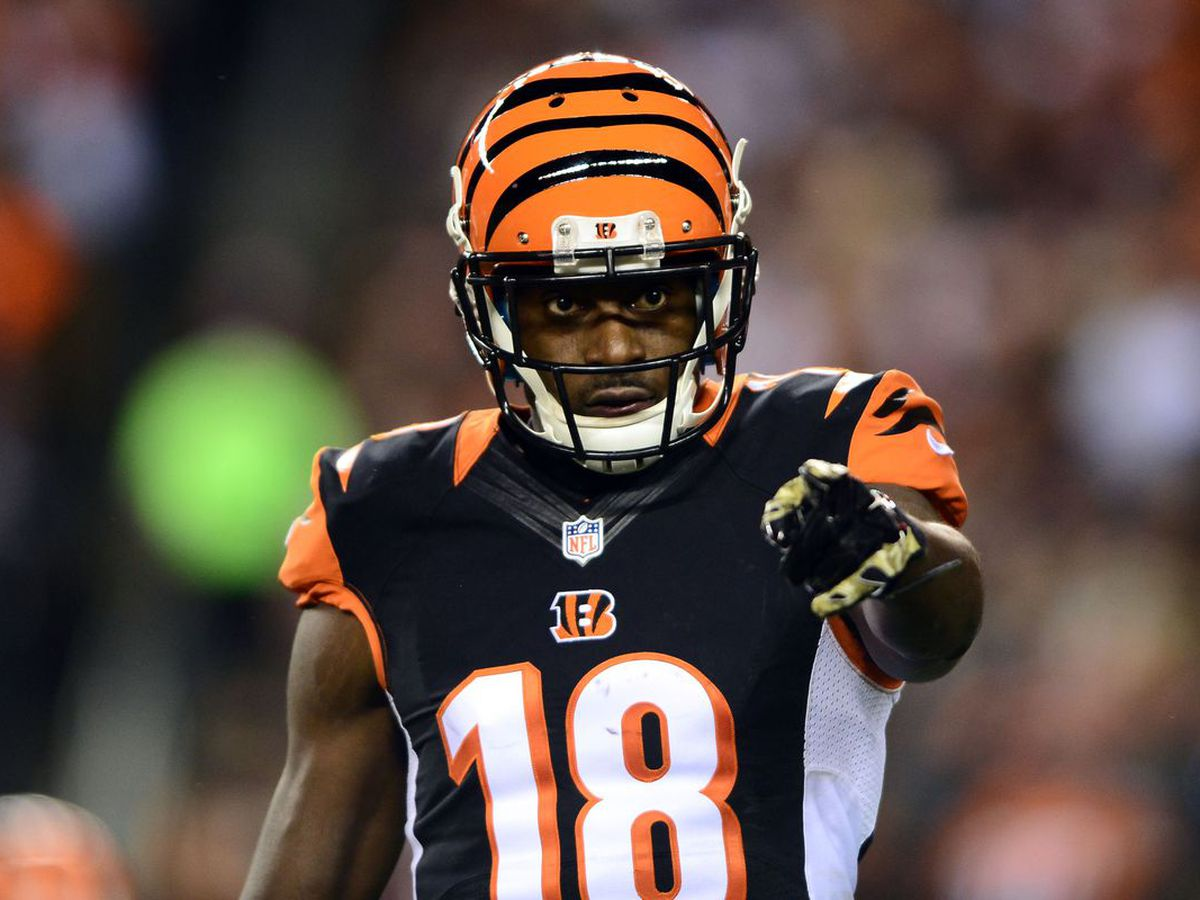 AJ Green is out of the boot and running