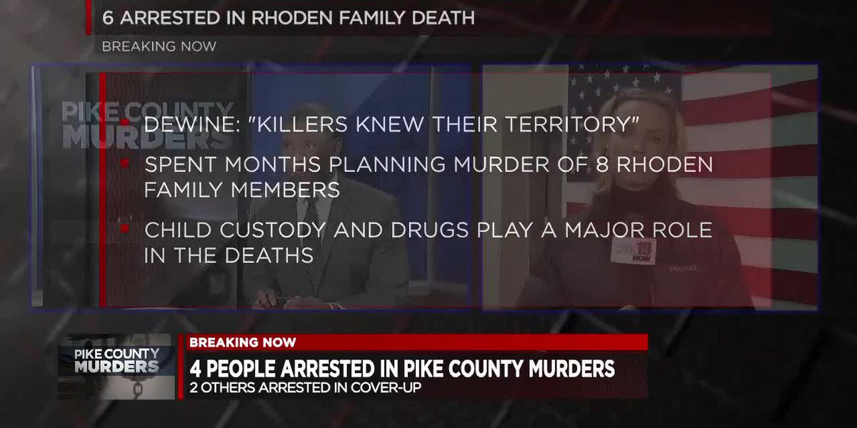 4 charged with murder in Rhoden family massacre case
