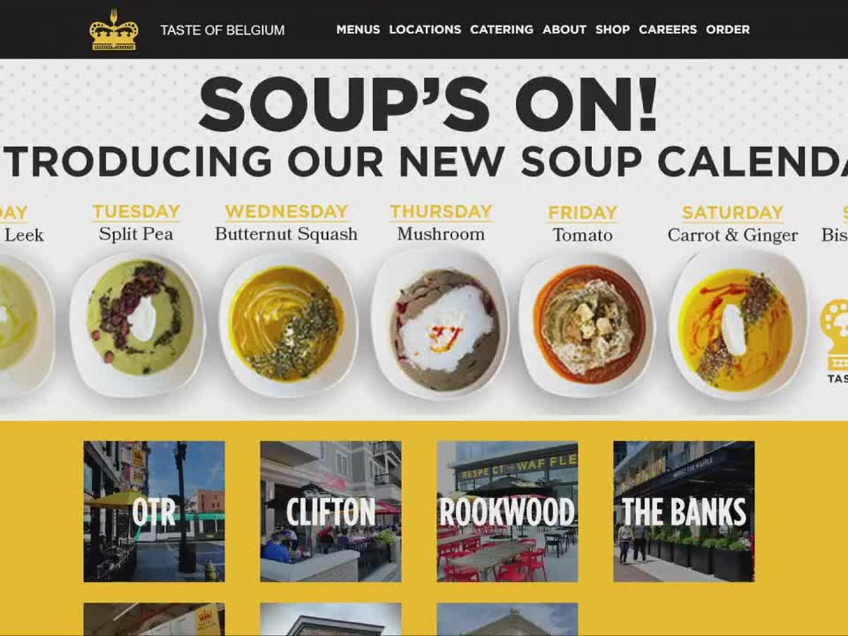 Taste of Belgium introduces a soup calendar