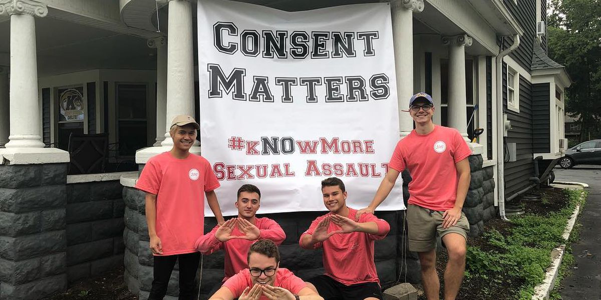 Kent State frat hangs 2nd sexual assault banner, after 1st was taken down by city
